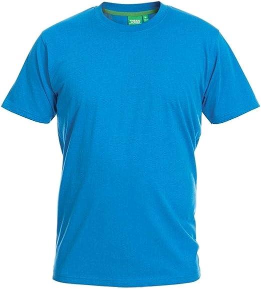 TALLA 4XL. Duke London D555 Talla Grande Hombre Grande Volantes Camiseta Cuello en Pico Azul 2xl-6xl