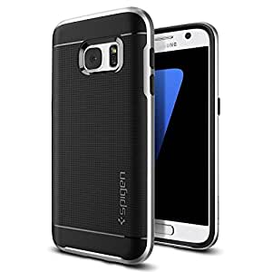 Galaxy S7 Case, Spigen® [Neo Hybrid] PREMIUM BUMPER [Satin Silver] Bumper Style Premium Case Slim Fit Dual Layer Protective Cover for Samsung Galaxy S7 (2016) - (555CS20142)