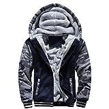 : Men Jacket, Gillberry Men Winter Warm Fleece Hood Zipper Sweater Jacket Outwear Coat