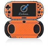 iCarbons Orange Carbon Fiber Vinyl Skin for PS Vita Slim (2000) Playstation
