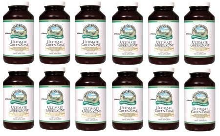 ULTIMATE GREENZONE CAPSULES Whole Food Dietary Supplement (Pack of 12) 180 Caps each ''FAST SHIPPING'' by Natures Sunshine