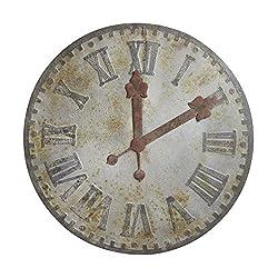 Creative Co-op DA7890 Round Decorative Metal Wall Clock