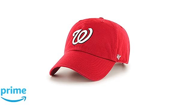 6366f029286b0  47 Brand MLB Washington Nationals Clean Up-Gorra de béisbol Unisex Adulto  Rojo Rosso Talla única  Amazon.es  Ropa y accesorios