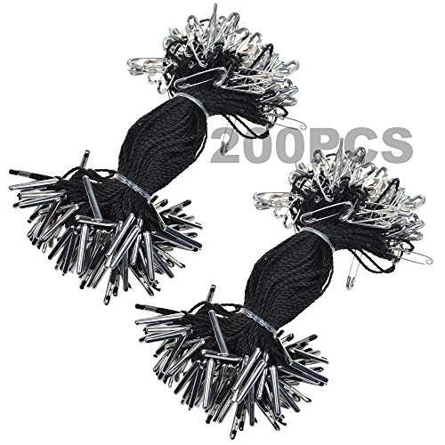 bcp-4inches-200pcs-nylon-garment-hang-tag-string-clothing-lanyard-tag-rope-with-safety-pin-black-col