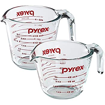 Pyrex Prepware 2-Piece Glass Measuring Cup Set, 1 and 2-Cup