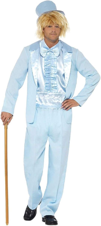 Men/'s Dumb /& Dumber Lloyd Orange Tuxedo 1990/'s Fancy Dress Costume Movie Stag