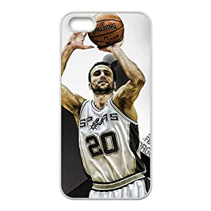 SAN ANTONIO SPURS Basketball NBA White Phone Case for Iphone 5s