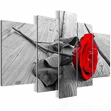 Bilder XXL Format 2044527a Bild auf Vlies Leinwand, Blumen, Rose ...