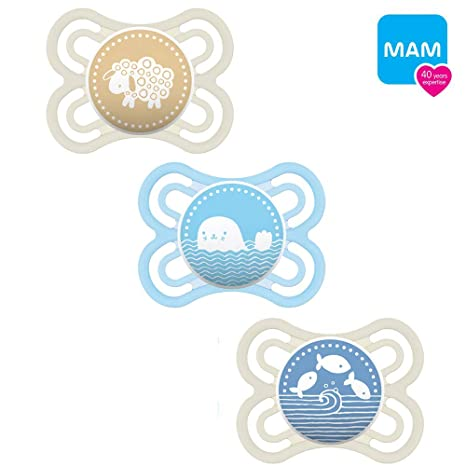 Mam Perfect silicona Chupete 0 - 6 Boy Mix//Juego De 3 ...