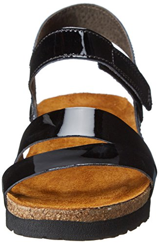 Naot Kayla Patent Leather Sandals Black