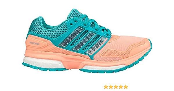adidas Response Boost 2 Techfit J, Zapatillas de Running Unisex niños, Verde/Blanco/Rojo (Menint/Ftwbla/Brisol), 37 1/3 EU: Amazon.es: Zapatos y complementos