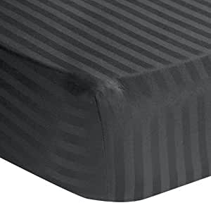 lavish linens 600 thread count 100 egyptian cotton 1 pc fitted sheet only 18 inch. Black Bedroom Furniture Sets. Home Design Ideas
