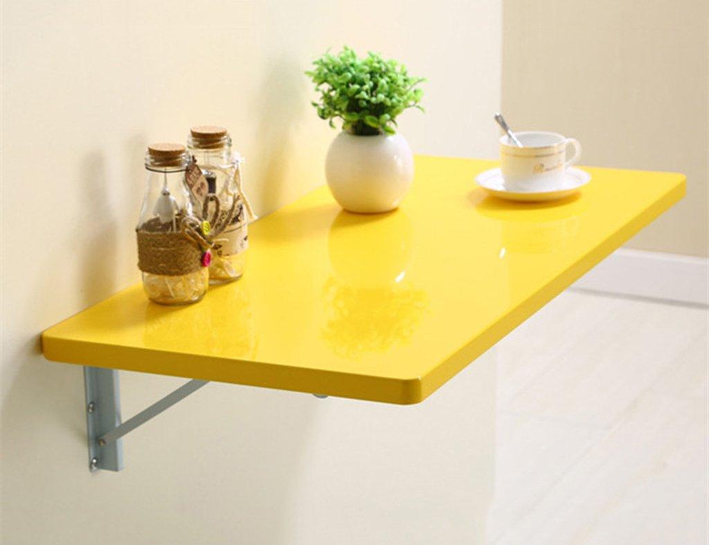 シンプルな折り畳み側のテーブルの壁掛けダイニングテーブル壁掛けコンピュータデスクラップトップデスクカラーサイズオプション ( 色 : イエロー いえろ゜ , サイズ さいず : 80cm*40cm ) B07BRK3ZGS 80cm*40cm|イエロー いえろ゜ イエロー いえろ゜ 80cm*40cm