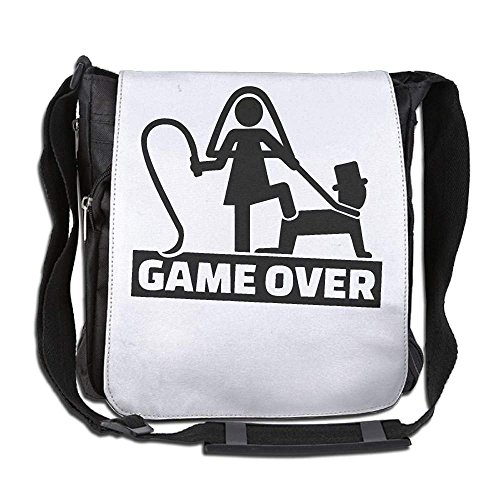 Wedding Couple Game Over For The Man Fashion Print Diagonal Single Shoulder Bag by indeaxwory