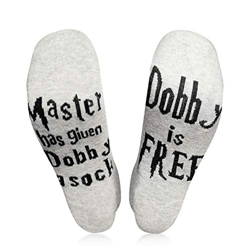 AiTrip 15250GDF Valentines Novelty Master Has Given Sock Dobby is Free Mens Womens Gift, One Size Fits All All,