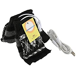 Laptop Women\'s Men\'s USB Heated Half & Full Finger Winter Warm Hand Gloves Warmer Wool