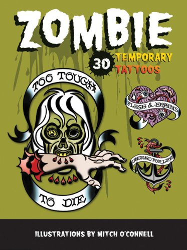 Zombie Temporary Tattoos: 30 Temporary Tattoos