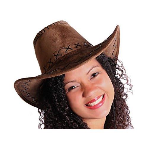 COWBOY Chapeau Western chapeau Australien Texas chapeau marron 04 by Trendmaus.de