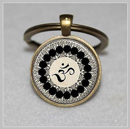 Llavero con símbolo de Buda, Zen, Meditación, Mandala Arte ...
