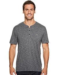 Men's Short Sleeve Plain Slubbed Jersey Tee with Textured...