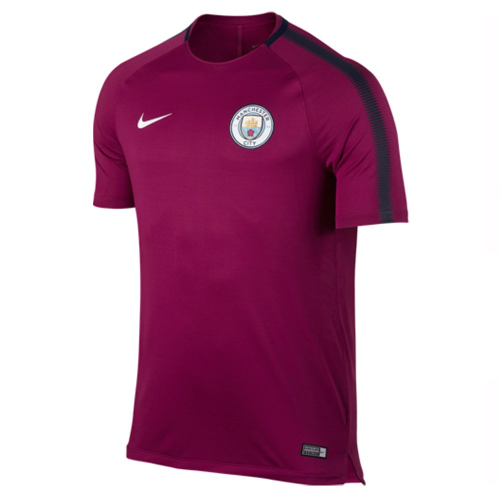 2017-2018 Man City Nike Squad Training Shirt (True Berry) B072MGYF3CMaroon XXL 50-52\