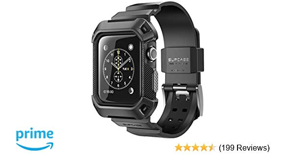 best sneakers 2d324 8f7ee Apple Watch 3 Case 38mm, SUPCASE [Unicorn Beetle Pro] Rugged Protective  Case with Strap Bands for Apple Watch Series 3 2017 Edition [38mm,  Compatible ...