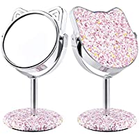 Derui Creation Lovely Kitty Shape Vanity Mirror (Multiple Colors)