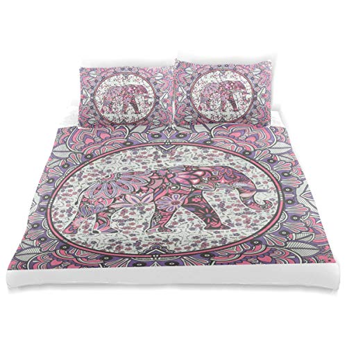 OSBLI Bedding Duvet Cover Set 3 Pieces Piano Backgrounds Music Bed Sheets Sets and 2 Pillowcase for Teens -