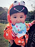 Two Baby Teething Mittens by Giftty, Soothing Teether Mitt & Teething Pain Relief Toy, Prevent Scratches Glove, Cute Animal Owl Collection, Unisex for 0-9 months Baby (2-mittens, 1 Travel bag, Pink)