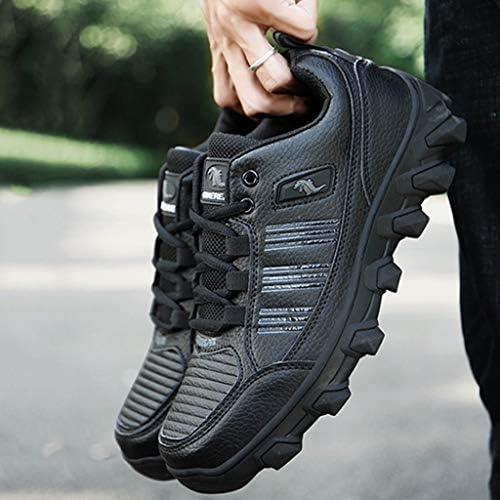メンズトレッキングスニーカー通気性のハイキングシューズトレーナーアンチバックパッキングバイク軽量旅行オールシーズンウォーキング用の軽量靴スリップ (Color : Black and Blue, Size : 8.0UK)