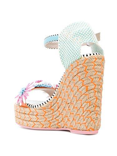 Rose SPS18032 Claire SOPHIA Bleu Femme Chaussures WEBSTER Compensées Coton qwB76X