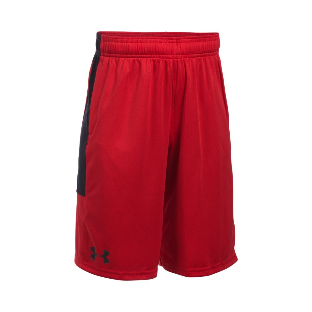 Under Armour Boys Instinct Shorts,Red /Black Youth X-Small