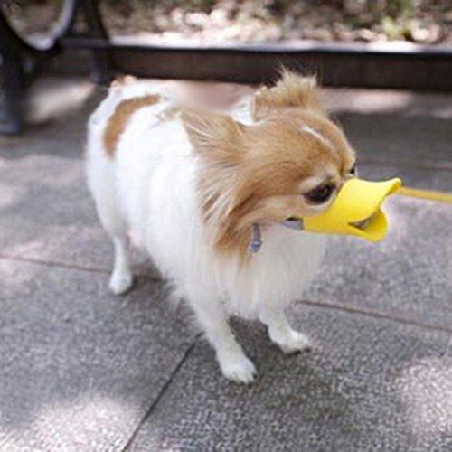 Wotefusi Halloween Duckbill Duck Mouth Anti-Barking Pet Dog Adjustable Safety Mask Cage Muzzle Size -