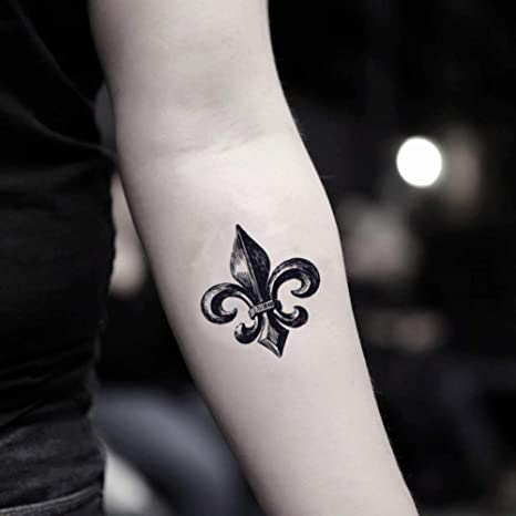 Tatuaje Temporal de Flor de lis (2 Piezas) - www.ohmytat.com ...