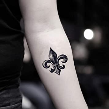 Amazon Com Fleur De Lis Temporary Fake Tattoo Sticker Set Of 2