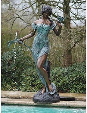Thermobrass - Escultura de bronce con flores, decoración para jardín: Amazon.es: Jardín