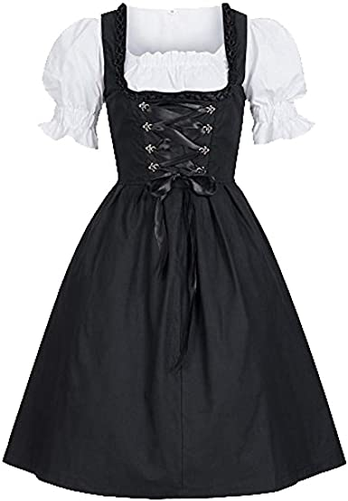 Amazon Com Clearance Sales Deatu Womens Dresses Ladies Oktoberfest Costume Bavarian Beer Girl Drindl Tavern Maid Dress Black Xl Clothing