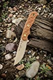 TOPS Tex Creek 69 Knife Coyote Tan Blade Tan Bullseye Tread Handles Knife TEX-69