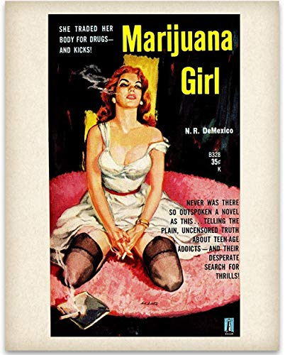 Marijuana Girl - 11x14 Unframed Art Print - Great Rehabilitation Center Wall Sign Under $15