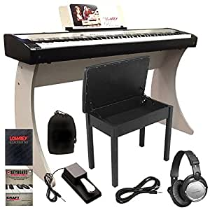 lowrey ezp3 digital piano by kawai complete home bundle 7 items musical instruments. Black Bedroom Furniture Sets. Home Design Ideas