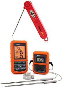 ThermoPro TP20 Digital Wireless Dual Probe Meat Thermometer TP03 Digital Instant Read Thermometer