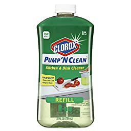 Clorox 31177 Pump \'N Clean Kitchen Cleaner, Citrus Scent, 24 oz. Pump Bottle (Pack of 4)