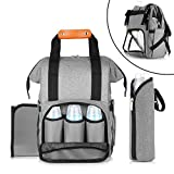Diaper Bag Backpack, Famirosa Large Capacity Baby Diaper Bags for Women Men Kids Travel, Changing Pad and Bottle Tote Bag Include