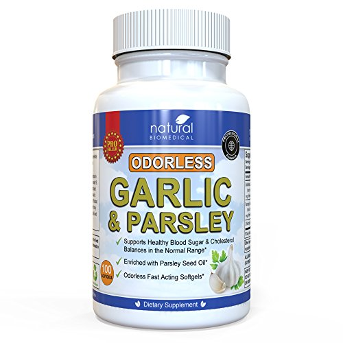 GARLIC PILLS SUPPLEMENT ODORLESS for high blood pressure by Natural Biomedical