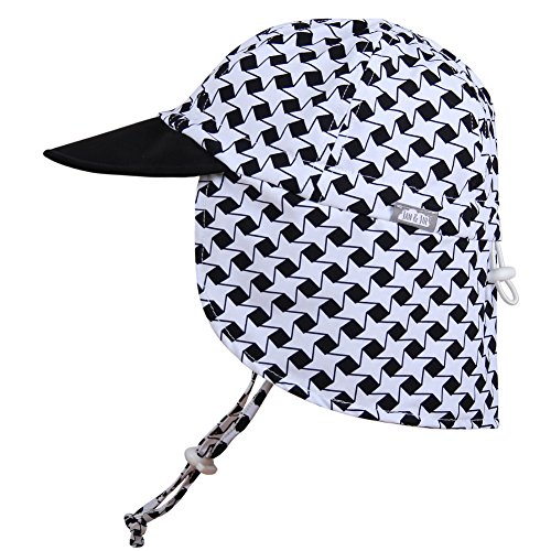 (Baby Toddler Kids UPF 50 Sun Protection Adjustable Neck Flap Hat - Discontinued by Manufactuer (Cap S: 0-9m, Stars))