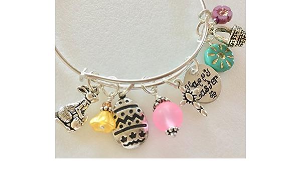 Beautiful Women\u2019s Earrings-Handmade Printed Bunny mixed with pink colors.