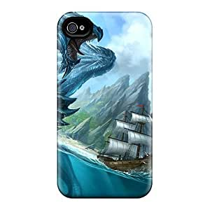 New Fashionable Saraumes FddFhcu814NtivY Cover Case Specially Made For Iphone 4/4s(sea Dragon Attacking A Ship)