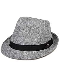 88d0221411c2d Classic Fedora Straw Hat for Mens Summer Short Brim Beach Sun Hat Jazz Cap