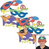 "Fun Express Superhero Masks Craft Kits (Makes 24) Self-Adhesive Foam Each 8 1/2"""