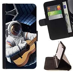 BullDog Case - FOR/Sony Xperia Z2 D6502 / - / Space Planet Galaxy Stars 74 /- Monedero de cuero de la PU Llevar cubierta de la caja con el ID Credit Card Slots Flip funda de cuer